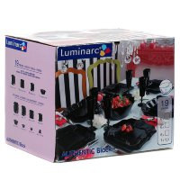 Столовый сервиз 19 пр Luminarc Аuthentic Black Е6196